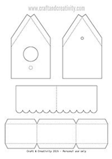 templates for bird boxes paper birdhouse with template by craft creativity