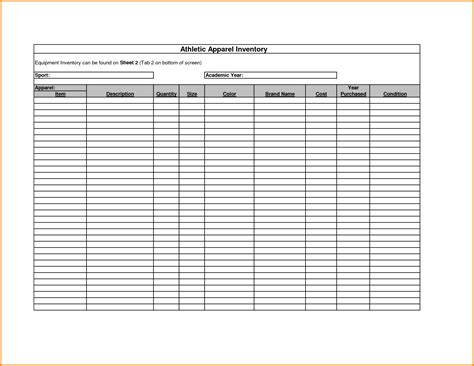 format excel sheet for printing free printable inventory sheets inventory spreadsheet