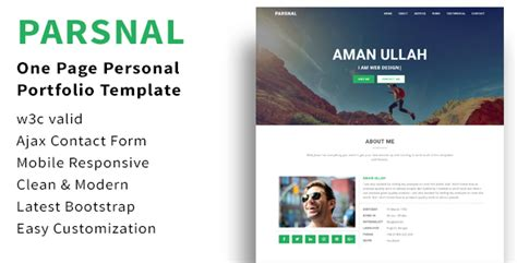 Parsnal Personal Portfolio Html5 Template By Web Bean Themeforest Html5 Personal Website Template
