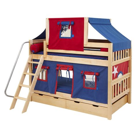 Canopy For Bunk Bed Deluxe Tent Bunk Bed Trundle Beds At Hayneedle