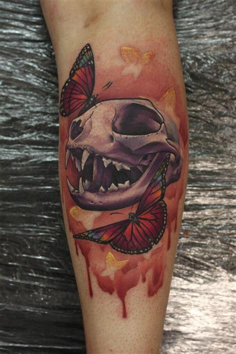 nemesis tattoo cat skull butterflies by anderton at nemesis