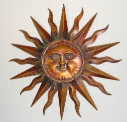 sun sculpture copper patina sun face extra large sunburst metal wall art hanging decor 38 quot ebay