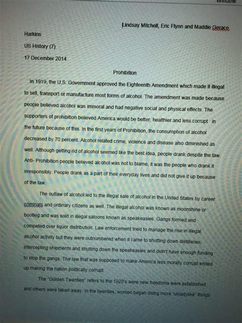 Prohibition History Essay by Write Papers For Money Time Tested Custom Essay Writing Service You Can Trust