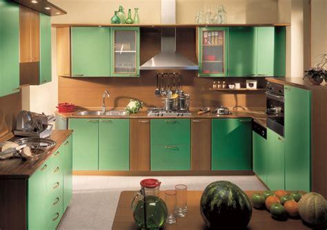 cucine verde mela composizione cucina in noce verde mela su struttura noce