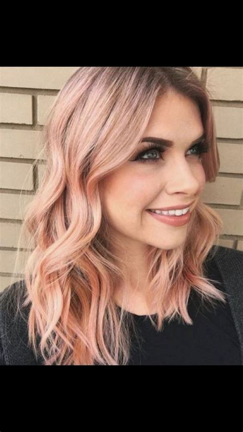 rose gold hair color rose gold hair color aboutwomanbeauty com