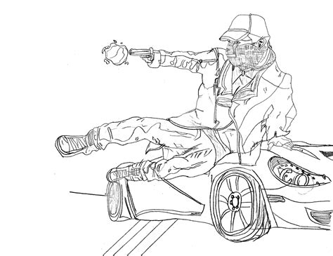 watch dogs coloring pages watch dogs aiden pearce drawing by legendaryrey on deviantart