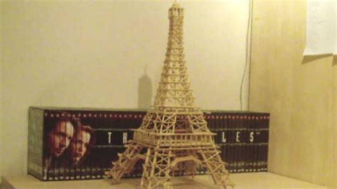 Eiffel Tower made from Toothpicks, Skewers and Ice Lolli