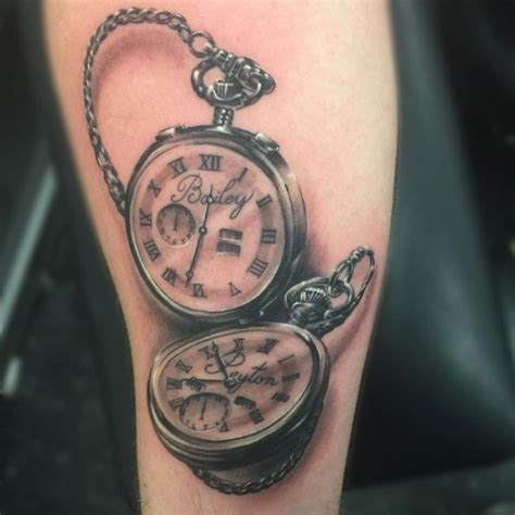 tattoo meaning watch 34 superb pocket watch tattoo designs pocket watch