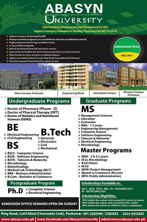 Ms Or Mba After Btech Cse by Admission Open In Abasyn Peshawar 19 Jul 2017
