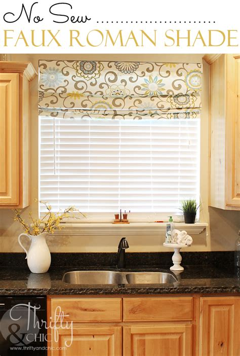 thrifty and chic diy projects and home decor elegant roman shades over blinds and buying inside remodel