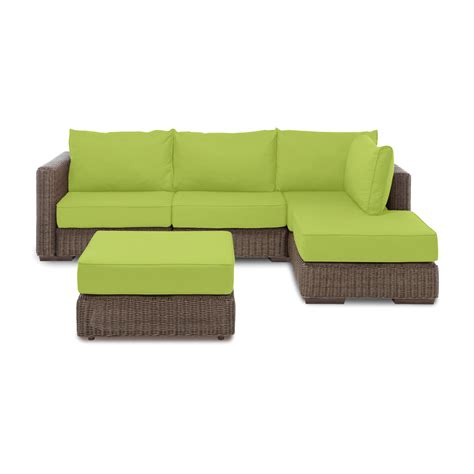 Lovesac Outdoor Outdoor Chaise Sectional Ottoman Macaw Sunbrella Cover
