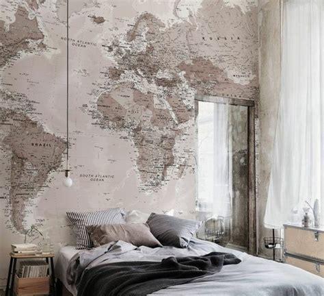 Charmant Peinture Chambre Adulte Zen #6: chambre-vintage-id%C3%A9e-papier-peint-chambre-adulte-mod%C3%A8le-chambre-adulte-papier-peint-carte-du-monde-style-vintage-industriel-3-e1469183977423.jpg