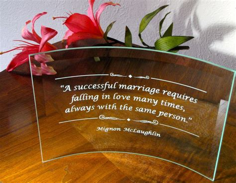 Wedding Gift Engraving Quotes by New Engraved Glass Wedding Plaque Personalized Or Custom