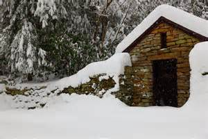 Snowy Cabin In The Woods by Cabin In The Snowy Woods Where