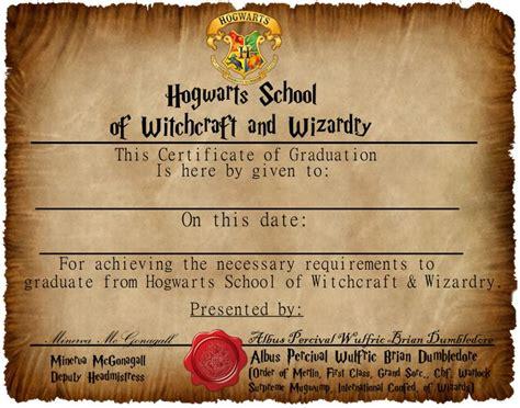 harry potter certificate template hogwarts graduation certificate captainjackharkness