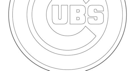 chicago cubs coloring pages chicago cubs logo coloring graphics