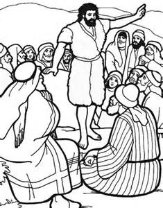 printable coloring pages the baptist 22 best images about sunday school crafts on