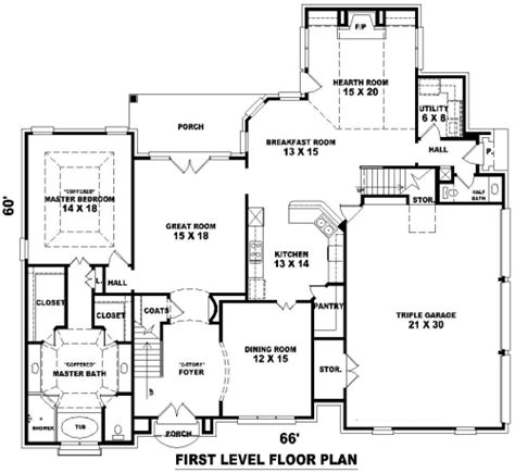dream house blueprints french dream 8149 4 bedrooms and 3 baths the house