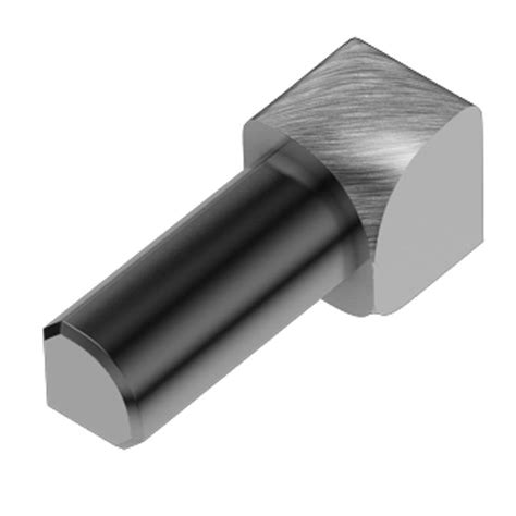 schluter rondec brushed chrome anodized aluminum