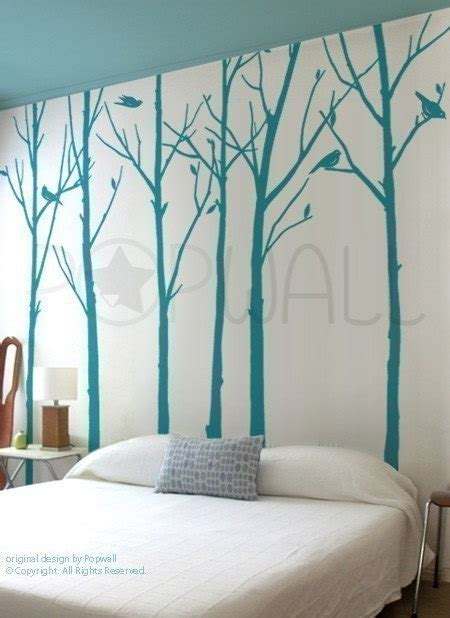 tree wall decals for living room leafy winter tree wall decal living room birds wall decal