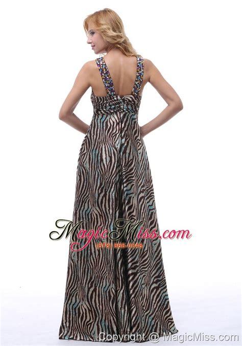 Gpt Isaura Maxi Dress Gamia beautiful zebra beaded decorate straps v neck prom evening dress for custom made in gulfport