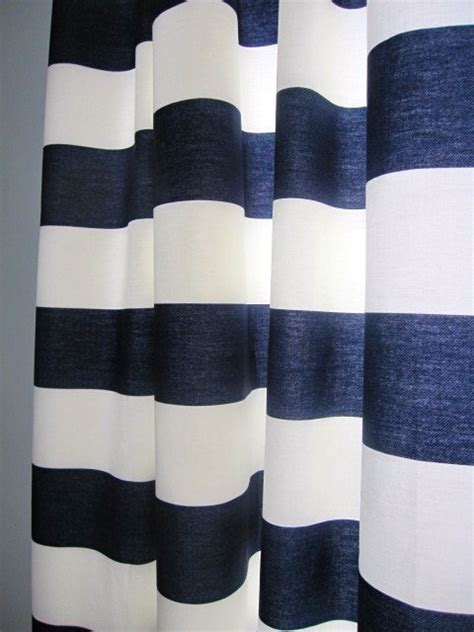 navy and white horizontal striped curtains 2 curtains drapes window curtains set of 2 navy blue
