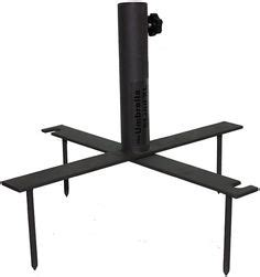 wenzel portable event table umbrella holder for bench bleachers or tailgating
