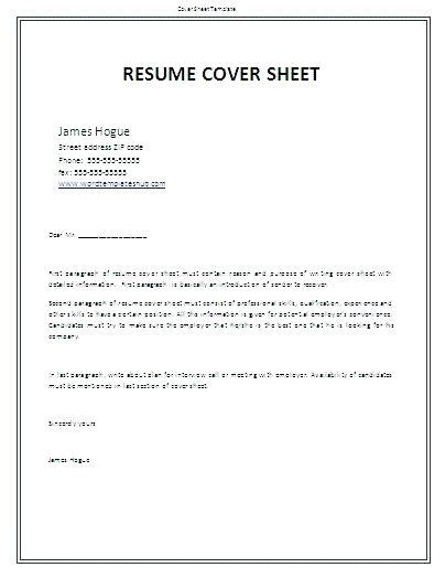 resume front page template resume front page template format exles tips and guidelines title page exle resume title