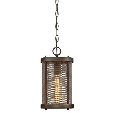 Westinghouse Outdoor Lighting Westinghouse Skyview Rubbed Bronze 1 Light Outdoor Hanging Pendant 6318200 The Home Depot