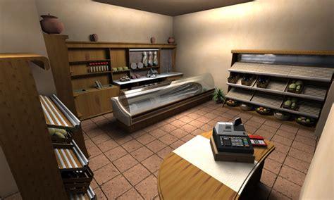 interno negozio foto render interno negozio generi alimentari de bridge