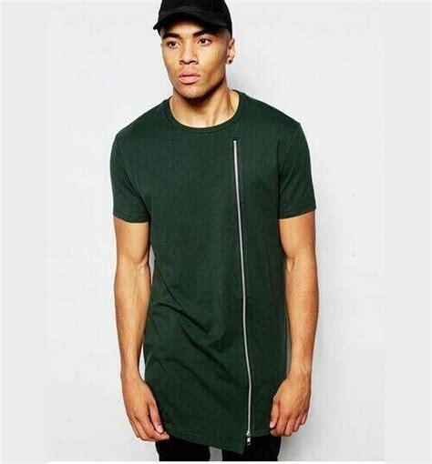 Kaos Longline 1 hiphop clothes streetwear kanye tyga novelty extended curved hem rock longline t