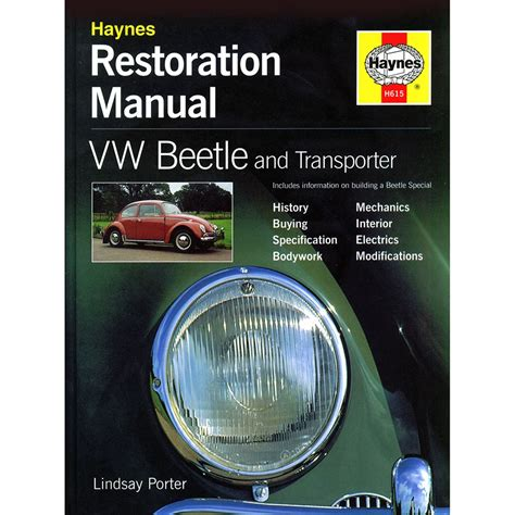 2897 Haynes Restoration Manual Vw Beetle And Transporter