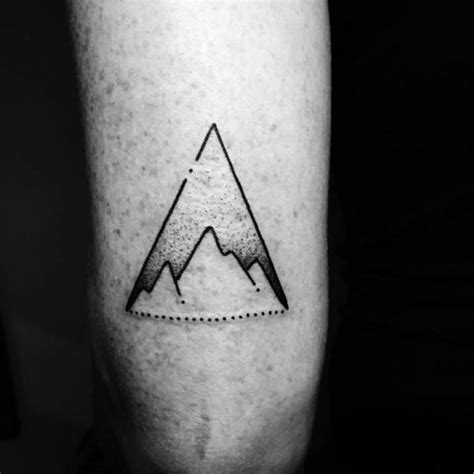 guy getting triangle tattoo on forearm ideas tattoo 50 tricep tattoos for men masculine design ideas