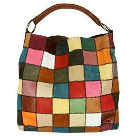 Lucky Brand Patchwork Bag - lucky brand leather patchwork hobo bag clothes