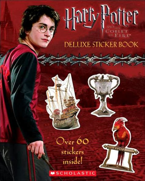 harry potter coloring books barnes and noble harry potter and the goblet of deluxe sticker book by