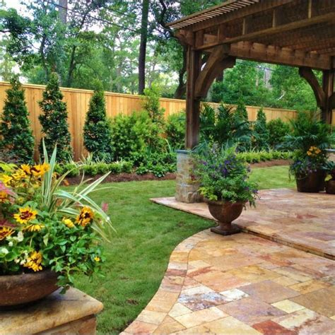 landscaping landscaping ideas for backyard along fence