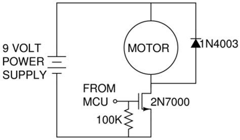 flyback diode for motor nerdkits driving a dc motor in or buying an h bridge sensors actuators and robotics