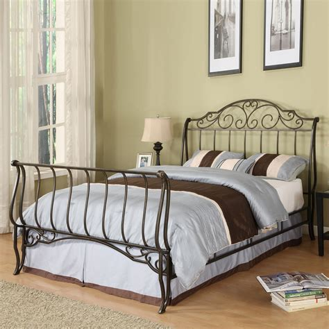 metal sleigh bed oxford creek 29779b221c bed queen size metal sleigh bed sears outlet