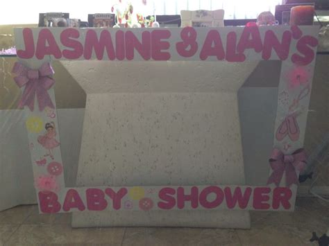 Baby Shower Picture Frame Ideas by Babyshower Photo Booth Frame My Creations
