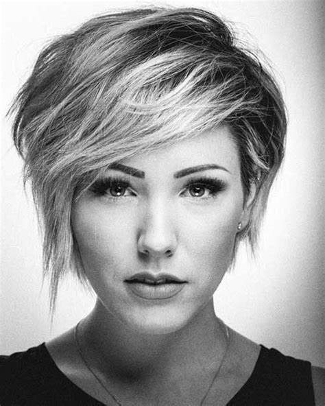 pixie haircut for strong faces 35 best layered short haircuts for round face 2018 short
