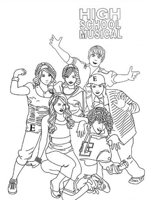 High School Musical Coloring Book 10 Coloring Pages For High School