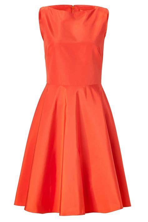 Dresss Orange bright orange taffeta dress elizabeth s custom skirts