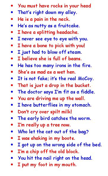 In A Pickle And Other Idioms exles of idioms