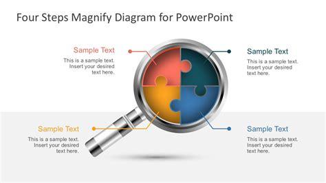7196 01 4 step arrow diagram 1 slidemodel four steps magnify diagram for powerpoint slidemodel