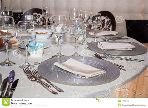 table set up stock photography image 34829962