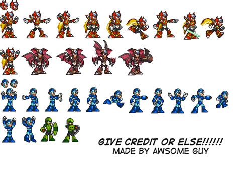 Zero Heroes Free Stiker awsome is awesome comics x and zero sprites