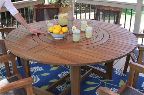 lazy susan dining table eucalyptus wood 63 quot lazy susan dining table