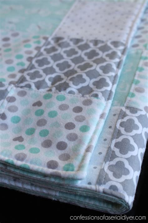 How To Make A Patchwork Baby Blanket - easy to make quilt i these colors baby shower