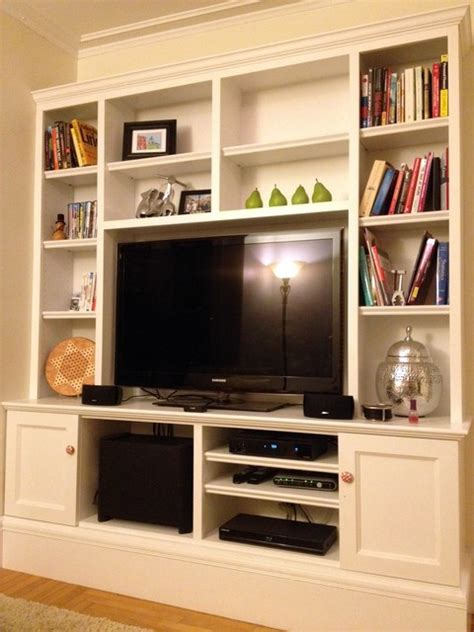 Houzz Living Room Tv Units Living Room Tv Wall Unit Traditional Living Room