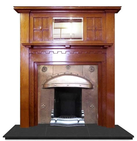 20th Century Fireplaces by 20th Century Edwardian Arts And Crafts Oak Mantel
